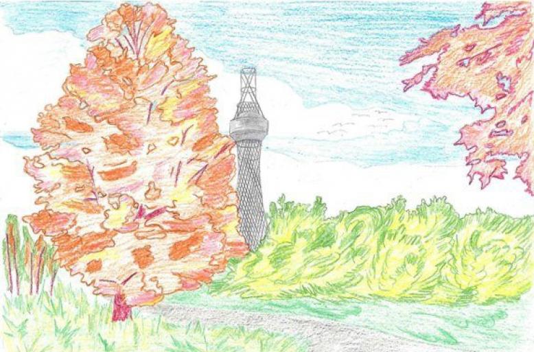 Рисунок Шуховской башни